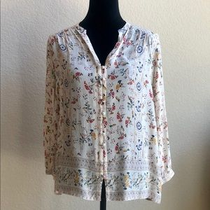 Lucky Brand Peasant Top